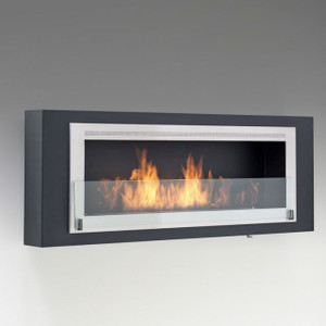 Eco-Feu Santa Cruz Modern Wall Mount Vent Free Linear Fireplace