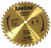 "SawStop Titanium Series 40-Tooth 10"" Combination Blade"