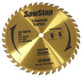 "SawStop Titanium Series 40-Tooth 10"" Combination Blade"
