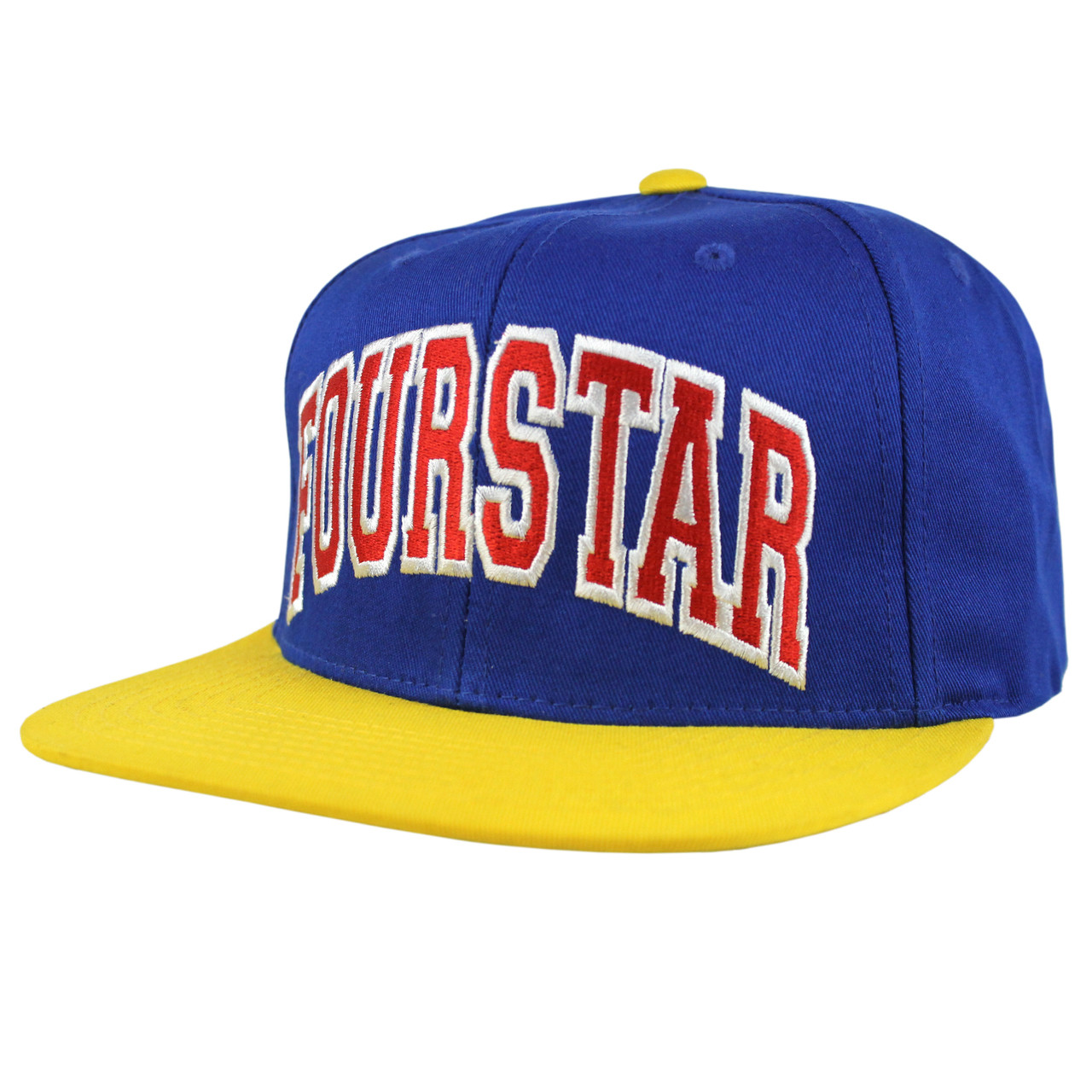 2d1359fb Fourstar Hat BOLD STARTER BLUE/YELLOW SNAPBACK