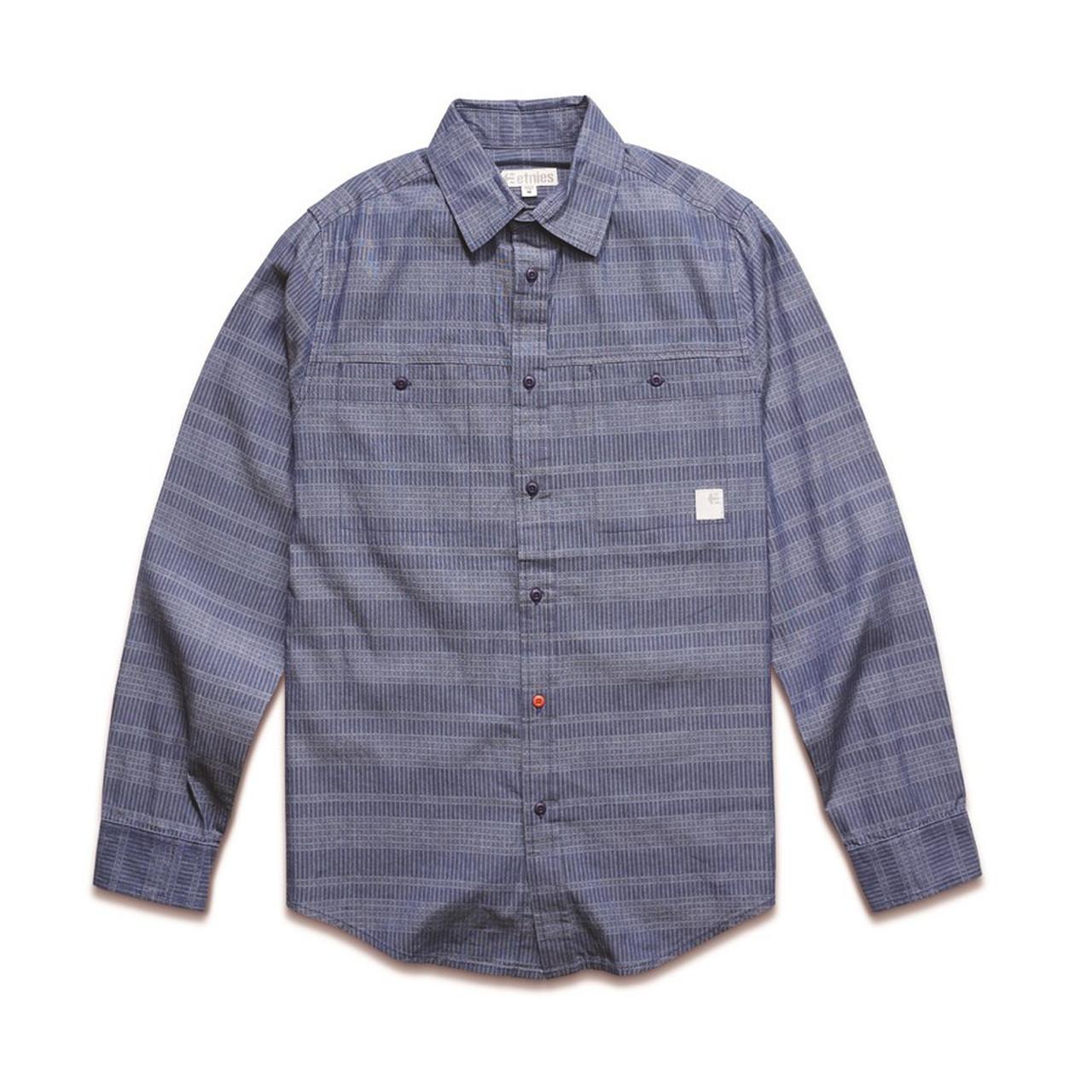 Etnies Button Down Shirt ZENT DARK NAVY