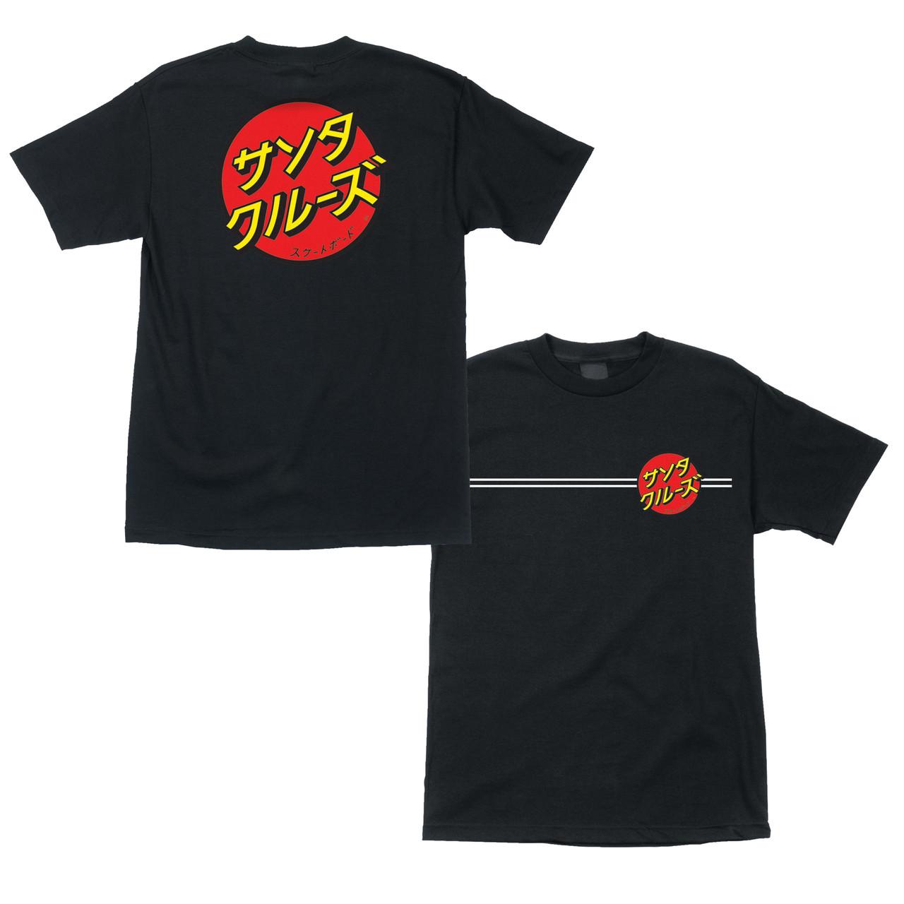 Santa Cruz Skateboard Shirt Japanese Dot Black