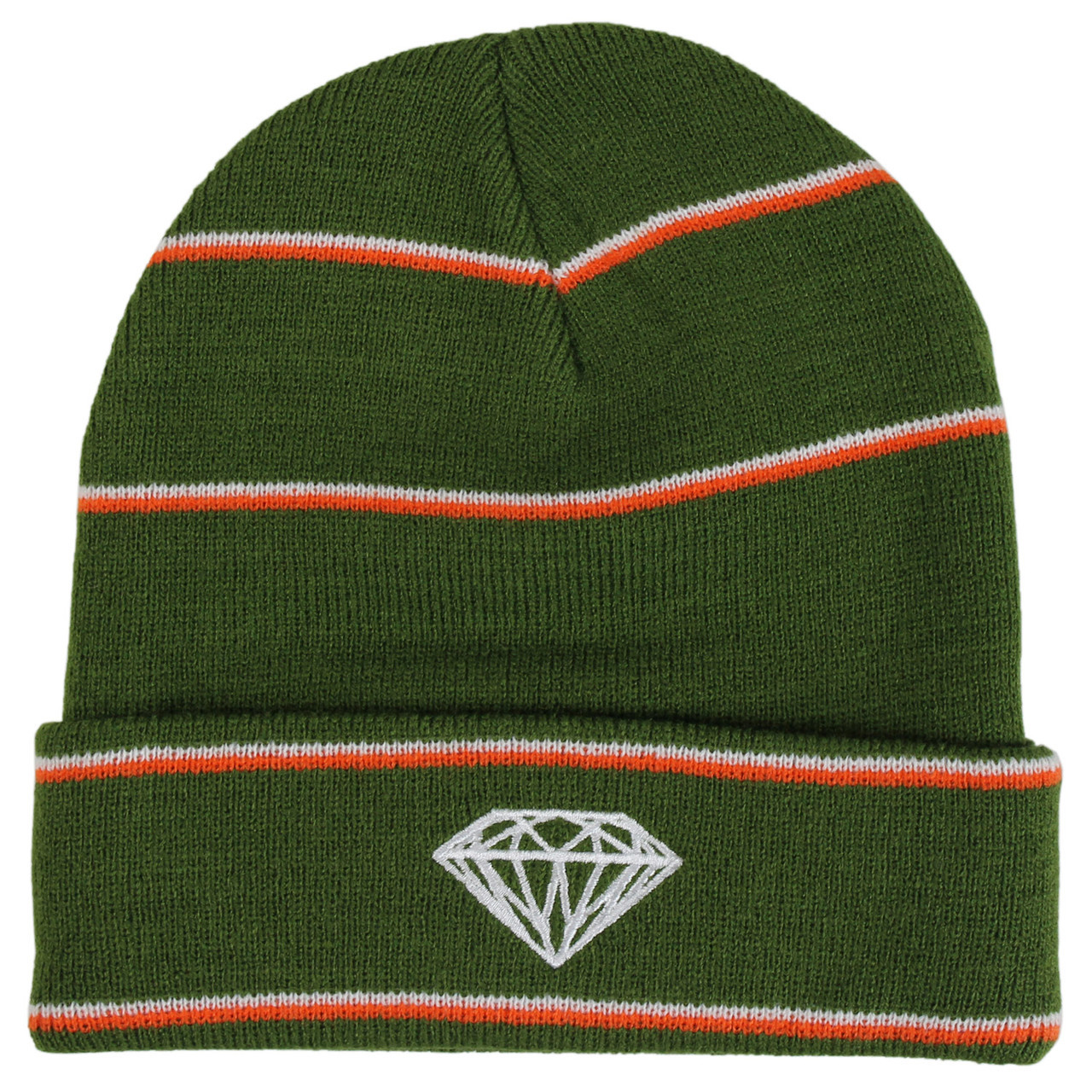 587f730d335 Diamond Supply Beanie Striped Green Orange White