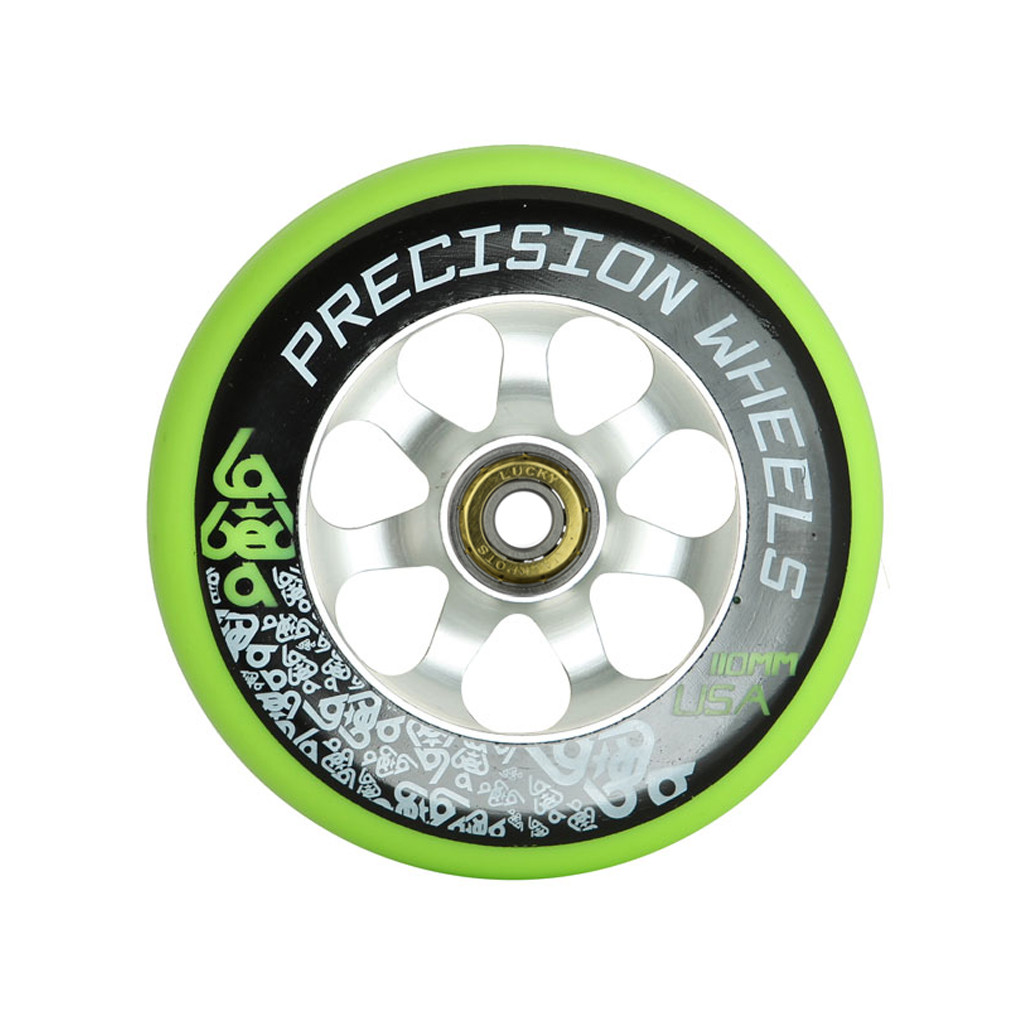 Labeda Precision Scooter Wheel Green 110mm w/ Lucky Bearings