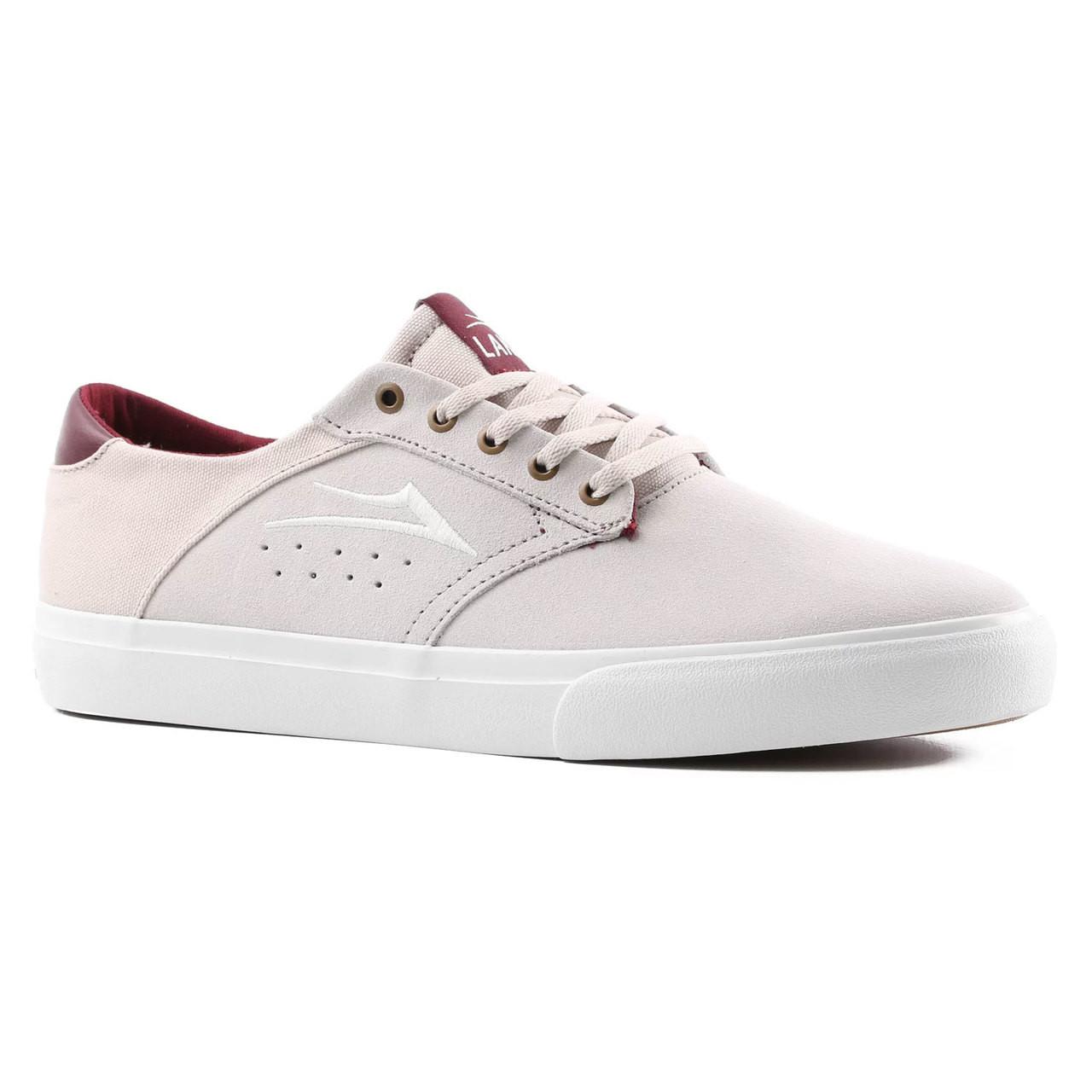 Lakai Skateboard Shoes Porter White Suede