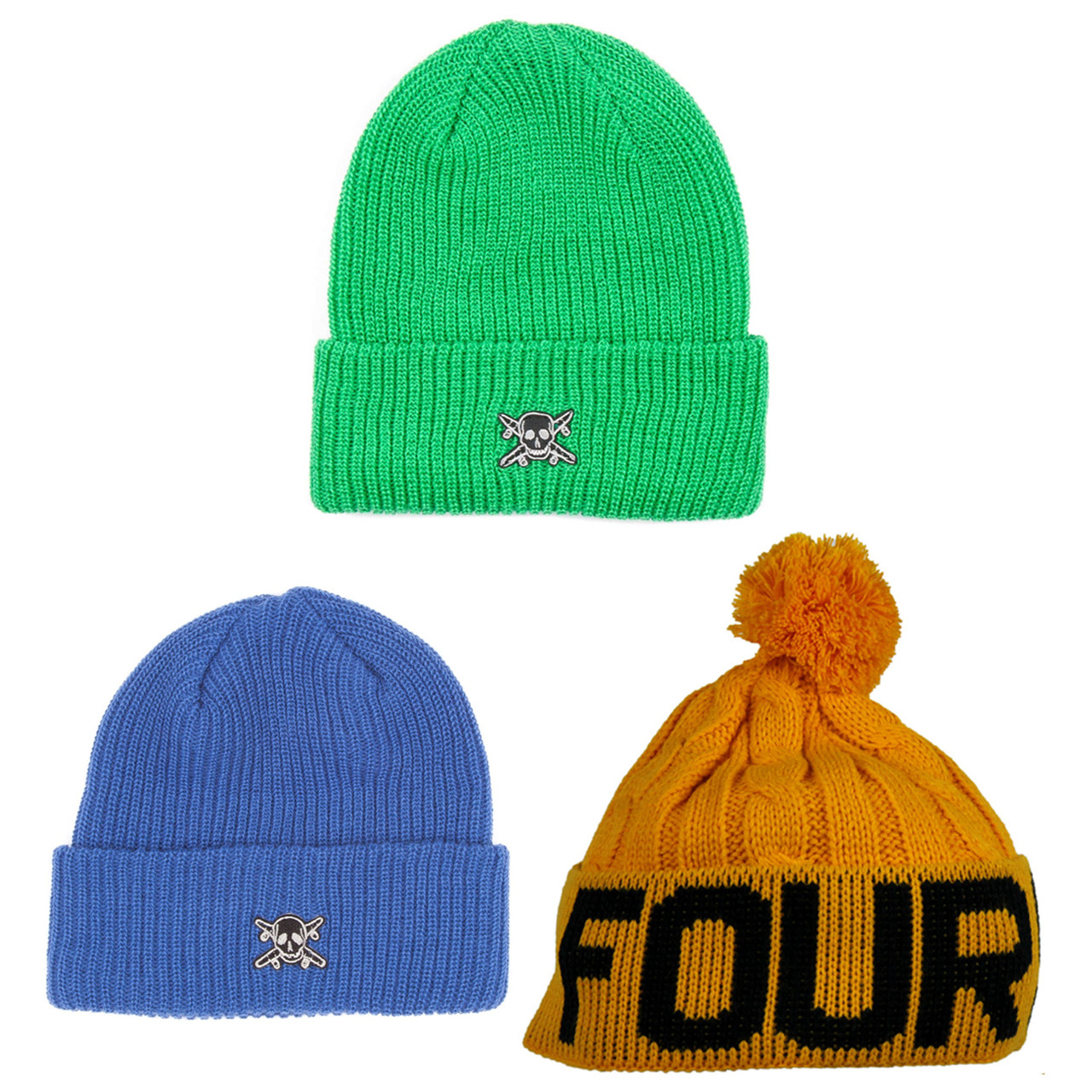 Back to School Beanies 3-Pack (FOURSTAR) Blue Yellow 8d43583c6f5