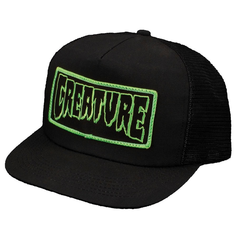 ... Creature Hat Patch Mesh Trucker Black Cap. Image 1 1137ac88d781