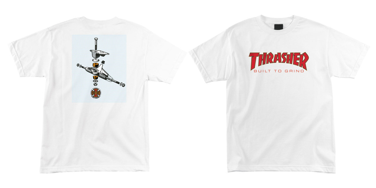 5d15e7f62409 Independent Shirt Thrasher BTG Built to Grind White