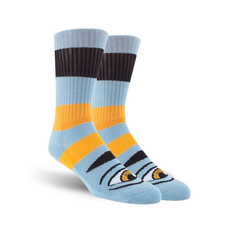 6732726960360 ... Toy Machine Socks Sect Eye Big Stripe Baby Blue Crew. Image 1