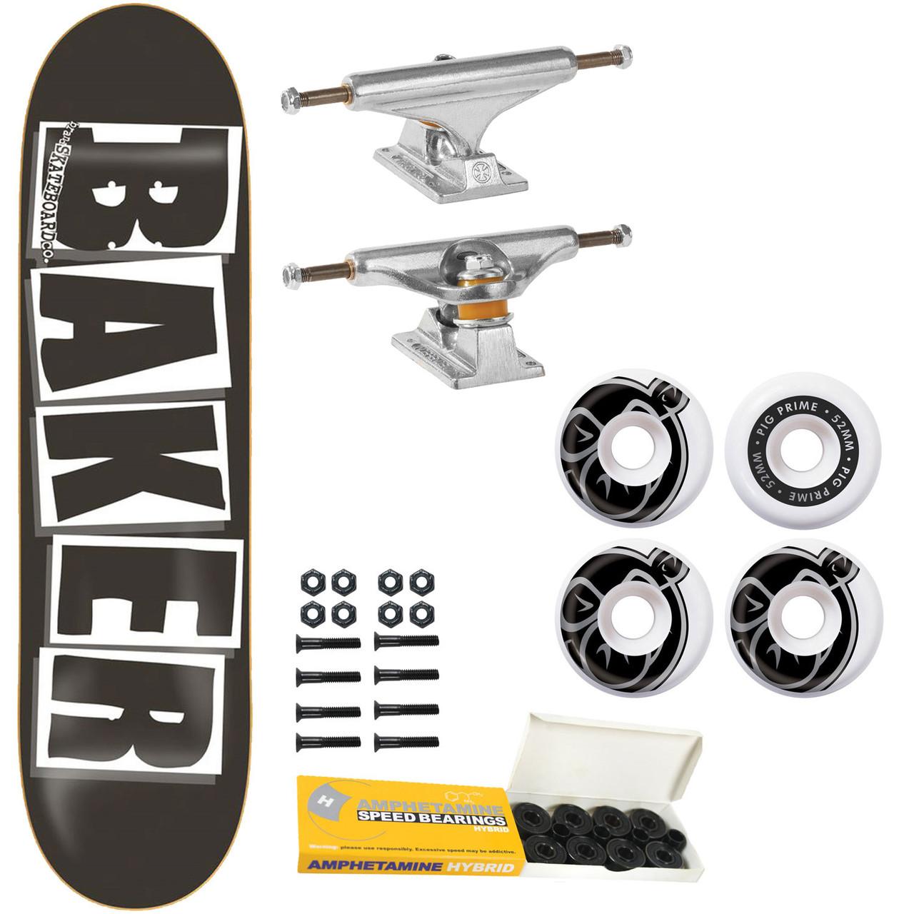 """BAKER Skateboard Deck LOGO BLACK//WHITE 8.25/"""""""