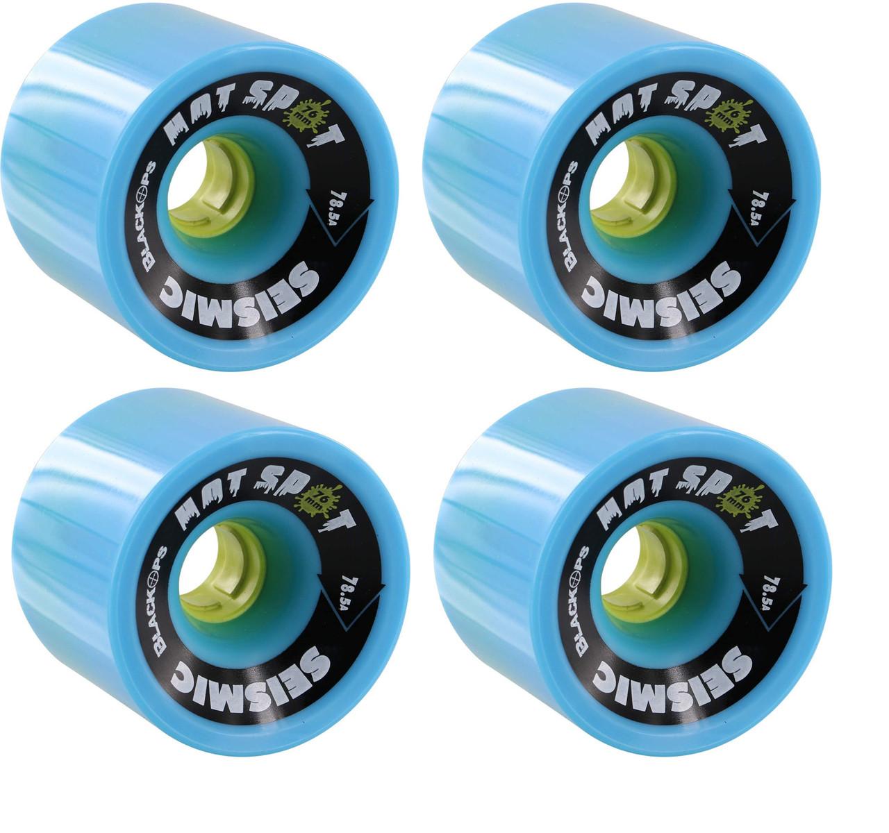 Seismic Longboard Wheels Hot Spot Blue 76mm x 59mm 81.5A Set of 4