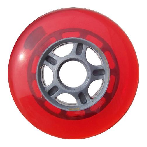 Plastic Hub Scooter Wheel Silver/Red 5 Spoke Hub 100mm