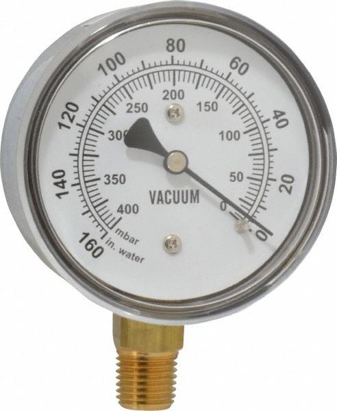 Gast AE134 Vacuum Gauge 1/4 NPT 160 PSI