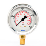 "Wika 9692091 Industrial Liquid-filled Gauge Model 213.53 2-1/2 Dial 2000 PSI/BAR 1/4""NPT Lower Mount Stainless Steel Case"