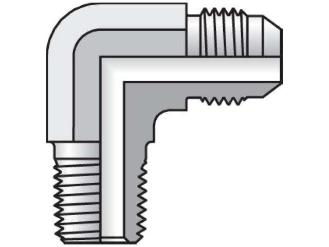 Parker 4-4 CTX-S Male Adapter Elbow 1//4 JIC X 1//4 NPT Male Steel