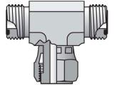 Parker 10 S6LO-S Seal-Lok Branch Tee 5/8 X 5/8 X 5/8 ORFS Swivel Steel