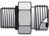 Parker 16-12 F5OLO-S Seal-Lok Male Adapter 1 Inch ORFS X 12 SAE-ORB Steel