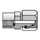 Parker MAVE06LRCF Pressure Gauge Swivel Connector 6Lmm Tube OD Male 24° Metric Swivel X 1/4-19 Female BSPP Steel