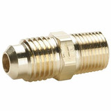 Parker 48F-6-4 Male Straight Connector 3/8 Tube OD X 1/4 NPTF Brass