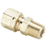 Parker 68CA-6-4 Compress-Align Male Connector 3/8 Tube OD X 1/4 NPT Brass