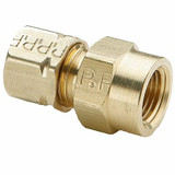 Parker 66CA-8-6 Compress-Align Female Connector 1/2 Tube OD X 3/8 NPTF Brass