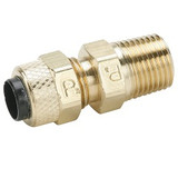 Parker 68P-6-4 Poly-Tite Compression Male Connector 3/8 Tube OD X 1/4 NPTF Brass