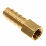 Parker 126HBL-4-4 Straight Female Connector 1/4 ID Hose Barb X 1/4 NPTF Brass