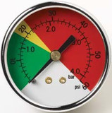 Parker 936912 Filter Indicator Pressure Gauge 25 PSI