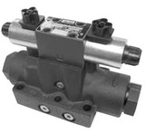 Parker D61VW001C4NYCF Directional Control Valve Double Solenoid 3 Position Spring Centered 50 GPM NFPA D08 5000 PSI