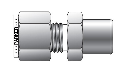 8 Units Brennan Instrumentation Straight Adapter 3//8 in Instrumentation x 1//8 in Female Pipe Stainless Steel