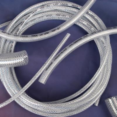 Newage 1000538-100 Nylobrade® Braid Reinforced PVC Tubing .600 Inch OD X 0.375 Inch ID X 0.113 Inch Wall Thickness Clear