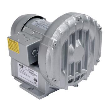 Gast R1102K-01 Regenair® Regenerative Blower 1/8 HP 27 CFM 28.5 IN-H2O (press) 26.5 IN-H2O (vac)
