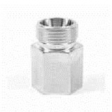Parker GAI28LRCF Ermeto DIN Female Connector 28mm Tube OD 24° Cone End X G 1 BSPP Steel