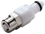 Colder PMCD2004 Valved In-Line Coupling Insert 1/4 PTF 120 PSI Acetal White