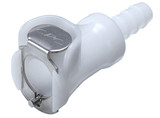 Colder PMCD1701 Valved In-Line Coupling Body 1/16 Hose Barb 120 PSI Acetal White