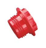 Caplug RPO-106 9/16-18 Threaded Plug Polyethylene Red