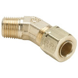 Parker 179CA-8-6 Compress-Align Male 45° Swivel Elbow 1/2 Tube OD X 3/8 NPTF Brass