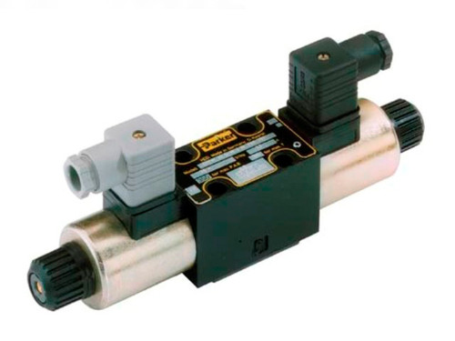 Parker D1VW004CNYCF Directional Control Valve Double Solenoid 3 Position Spring Centered 14 GPM NFPA D03 5000 PSI