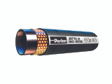 Parker 387TC-12-RL Medium Pressure Hydraulic Hose 3/4 ID 1-2 Steel Wire Braid Synthetic Tough Rubber Cover Black