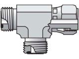Parker 12 R6LO-S Seal-Lok Run Tee 3/4 ORFS X 1/2 ORFS Swivel X 3/4 ORFS Steel