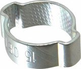 Oetiker 1315 1010019 Double Ear Clamp .492 to .591 Inch Hose OD Zinc Plated Steel