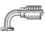 Parker 16N78-20-16 Parkrimp 78 Series Permanent 1-1/4 SAE Code 62 Flange Head 90° Elbow X 1 Inch Hose Steel