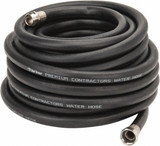 Parker PR5850 Premium Contractor's Rubber Water Hose Assembly 5/8 ID X 50 FT Black