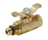 Parker V510P-4-04 Brass Ball Valve Tee Handle