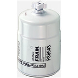 Fram PS6643 Fuel Filter Style 234 1-14 Th'd ID X 3.688 OD X 6.23 Height