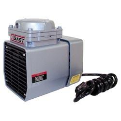 Gast DOA-V722-AA Diaphragm Air Compressor / Vacuum Pump .125 HP 1.55 CFM-50HZ 1.90 CFM-60HZ 25.5 IN-HG