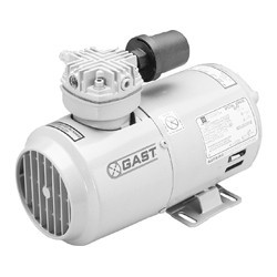 Gast 1VAF-10-M100X Piston Vacuum Pump .17 HP 1.49 CFM-50HZ 1.80 CFM-60HZ 27.5 IN-HG