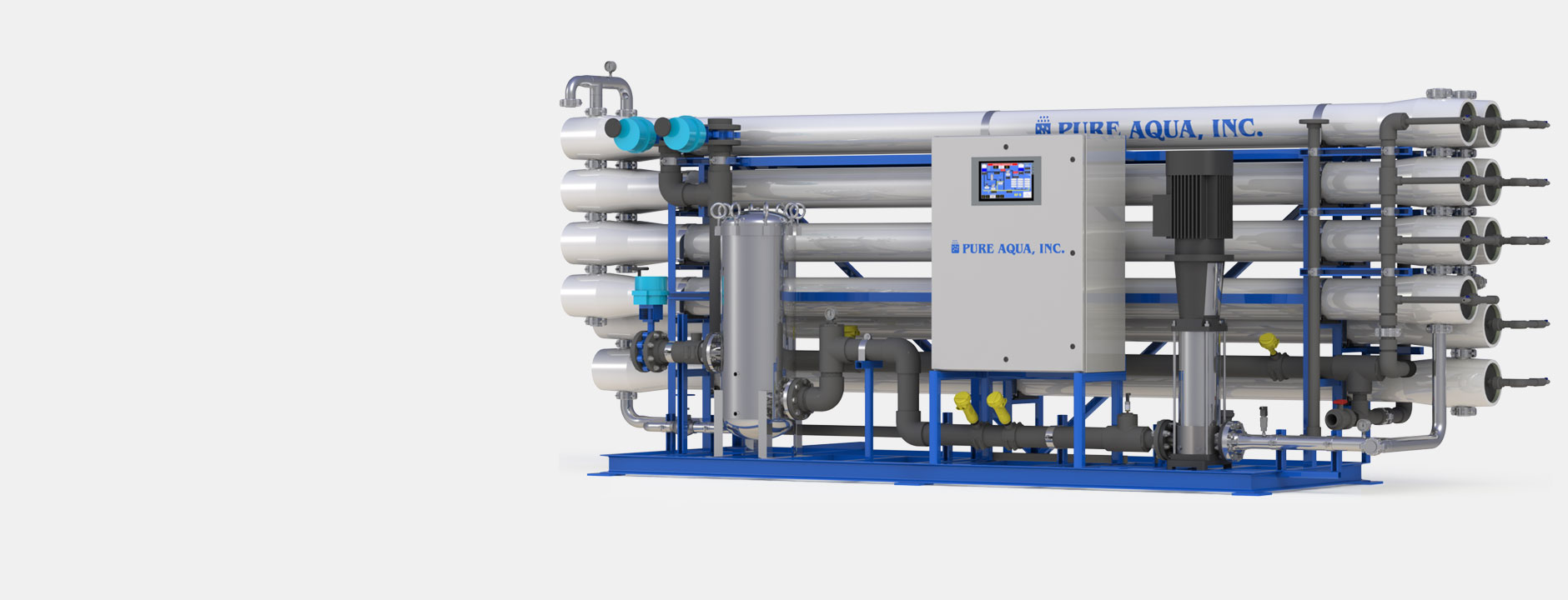Systèmes industriels d'osmose inverse