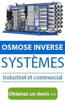 Systèmes d'osmose inverse