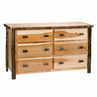 FL82040 Hickory 6 Drawer Dresser